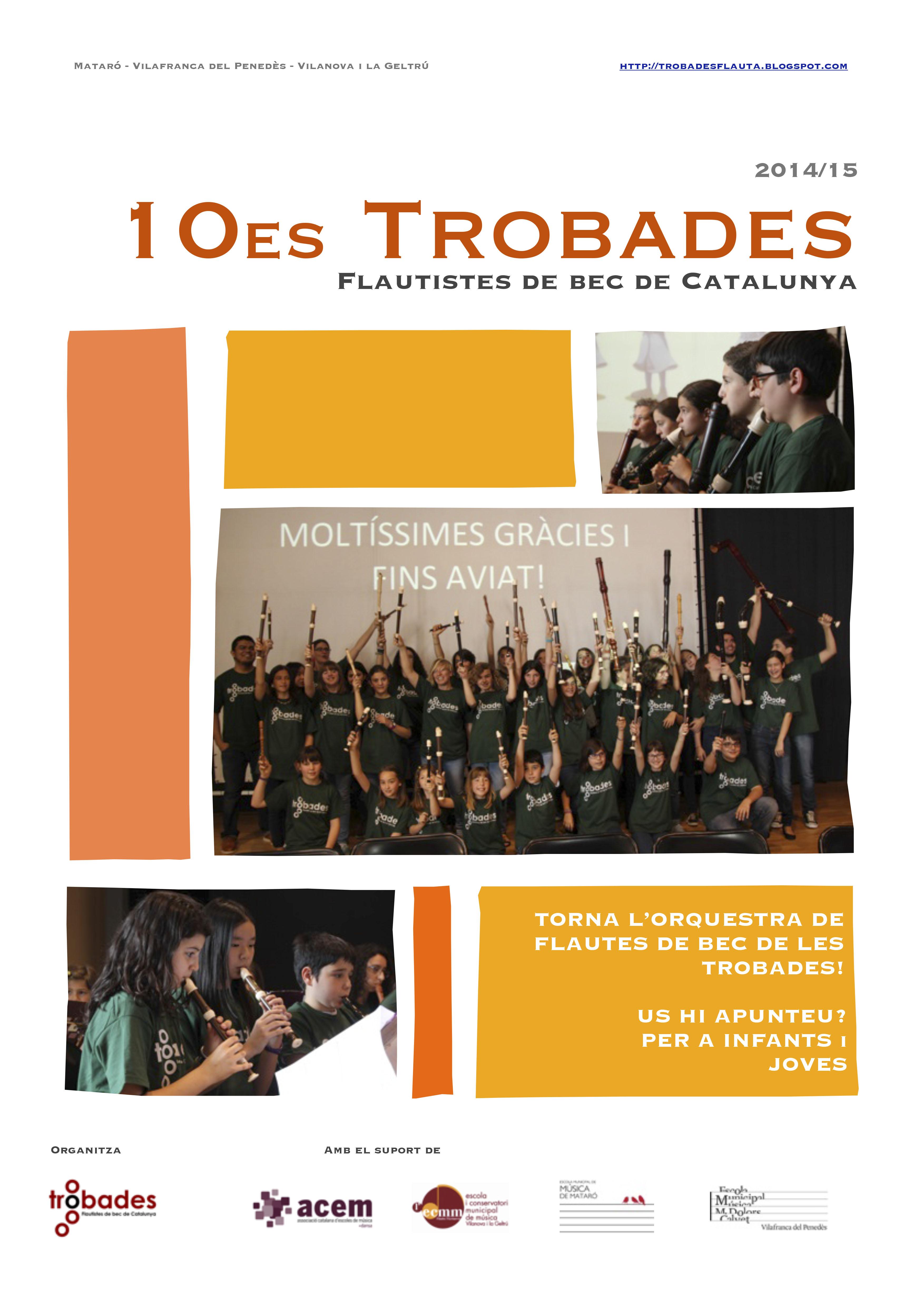2n encontre de les 10º Trobades de Flautistes de Bec de Catalunya a Vilafranca del Penedès