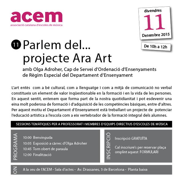 Parlem del…projecte Ara Art amb Olga Adroher