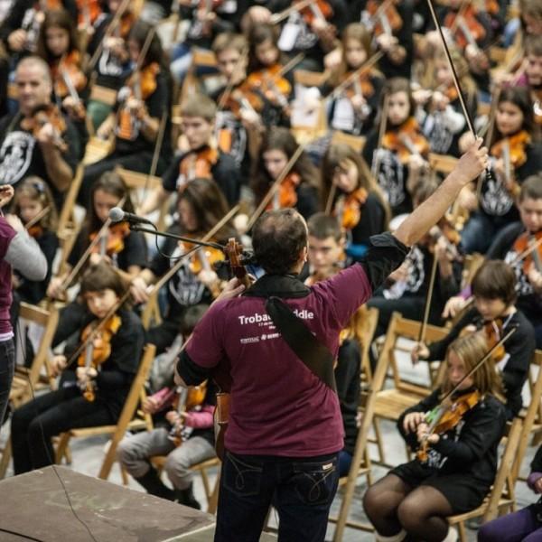 La Trobada Fiddle reunirà més de 500 alumnes de corda fregada de 28 escoles de música de Catalunya