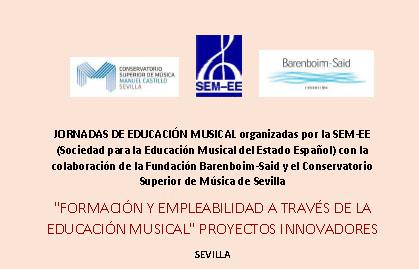 La SEM-EE organitza una Jornada d'educació musical a Sevilla el 9 i 10 d'octubre