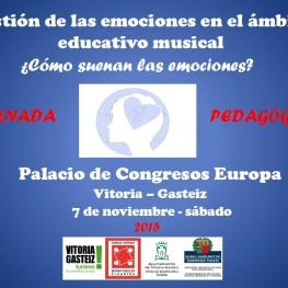 Jornada sobre la gestió de les emocions en l'àmbit educatiu musical a Vitòria el 7 de novembre