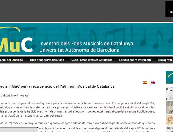 Es presenta el web IFMuC, portal del patrimoni musical català