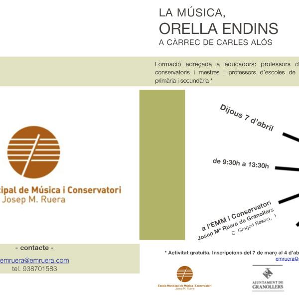 """Curs de formació per educadors: """"La música, orella endins"""""""