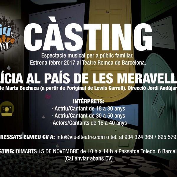 Convocatòria de càsting per un musical a Barcelona