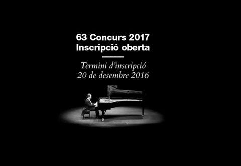 Obertes les inscripcions per participar al 63º Premi Internacional de Música Maria Canals