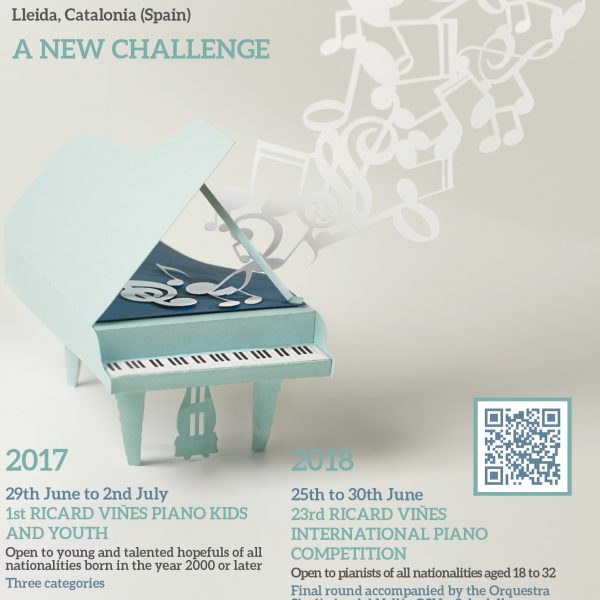 S'ha obert la convocatòria al concurs internacional Ricard Viñes Piano Kids and Youth 2017