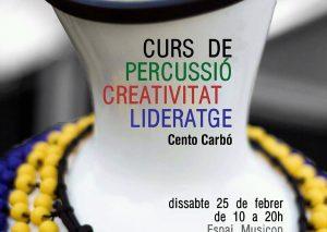 """Curs """"Percussió, creativitat i lideratge"""" a Mataró organitzat per Musicop"""