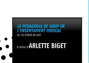 Curs La Pedagogia de grup en l'ensenyament musical amb Arlette Biget al Vendrell