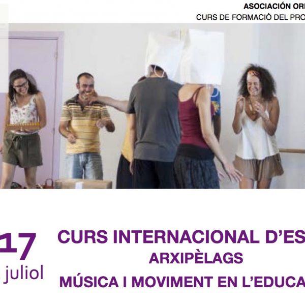 Curs internacional d'estiu Orff Catalunya: Arxipèlags, música i moviment en l'educació