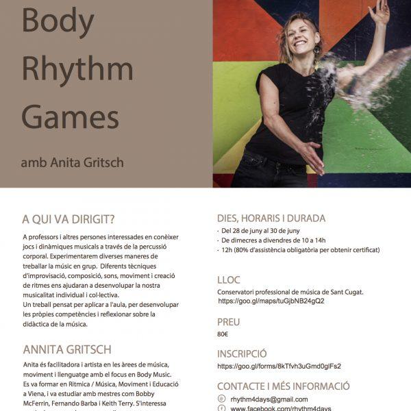 Curs Body Rhythm Games amb Anita Gritsch