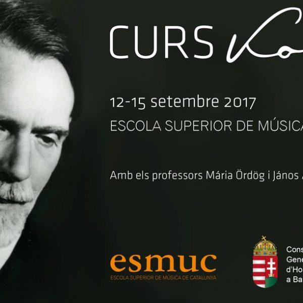L'ESMUC serà la seu del Curs Kodály a Barcelona del 12 al 15 de setembre