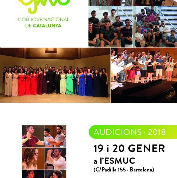 Audicions Cor Jove Nacional de Catalunya 2018
