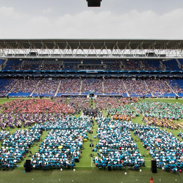 L'ACEM ha culminat els actes de celebració dels seus 25 anys d'història  un concert amb més de 5.500 músics al RCDE Stadium de Cornellà – El Prat