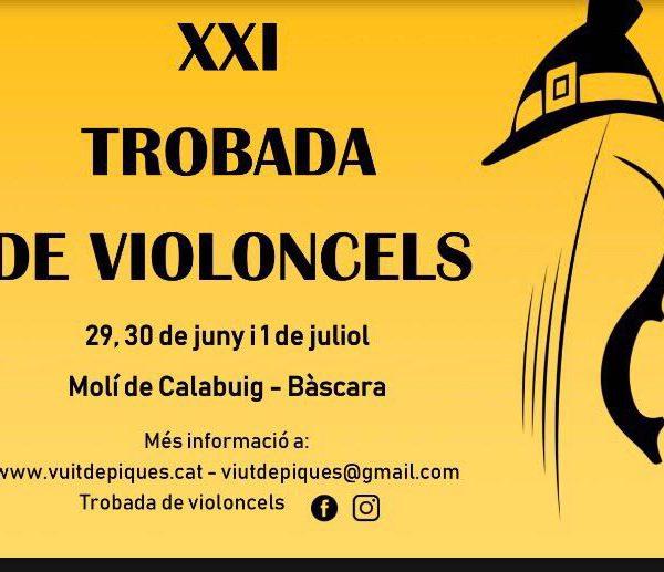 XXI Trobada de violoncels del 29 de juny al 1 de juliol a Bàscara