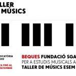 Oberta la convocatòria de Beques Fundació SGAE per a estudis musicals superiors al Taller de Musics