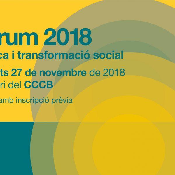 Fòrum 2018: Música i transformació social – 27 de novembre al CCCB