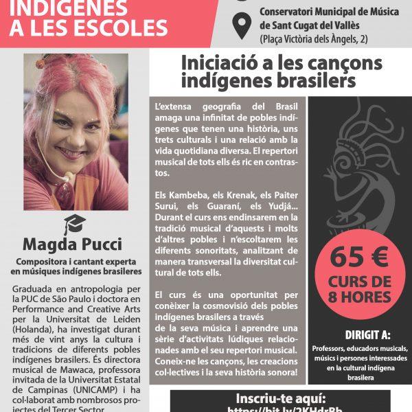 """Curs de formació """"Cantos da Floresta: les cultures indígenes a les escoles"""" a càrrec deMagda Pucci a Sant Cugat"""