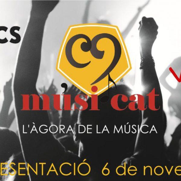 Presentació de la plataforma Musi.cat el 6 de novembre al Taller de Músics