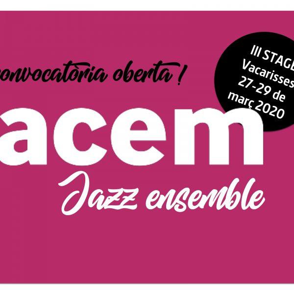 Convocatòria oberta per a la selecció de nous membres a la #ACEMJazzEnsemble