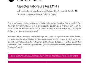 """Parlem de… """"Aspectes laborals a les EMM's"""""""