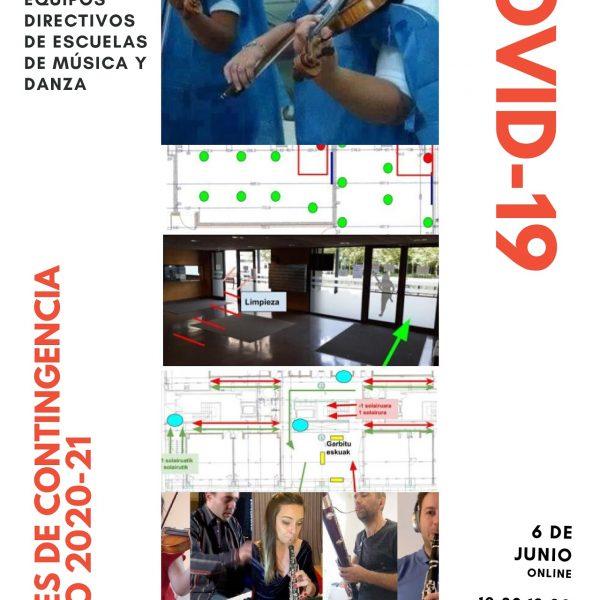 Fòrum per equips directius d'escoles de música sobre mesures de contingència – 6 de juny