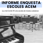 Informe ACEM: la crisi de la COVID19 a les escoles de música catalanes