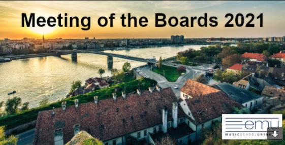 """Seminari Meeting of the Boards 2021 en línia: """"Les escoles de música en una societat (post) pandèmica"""" – 15 i 16 octubre"""