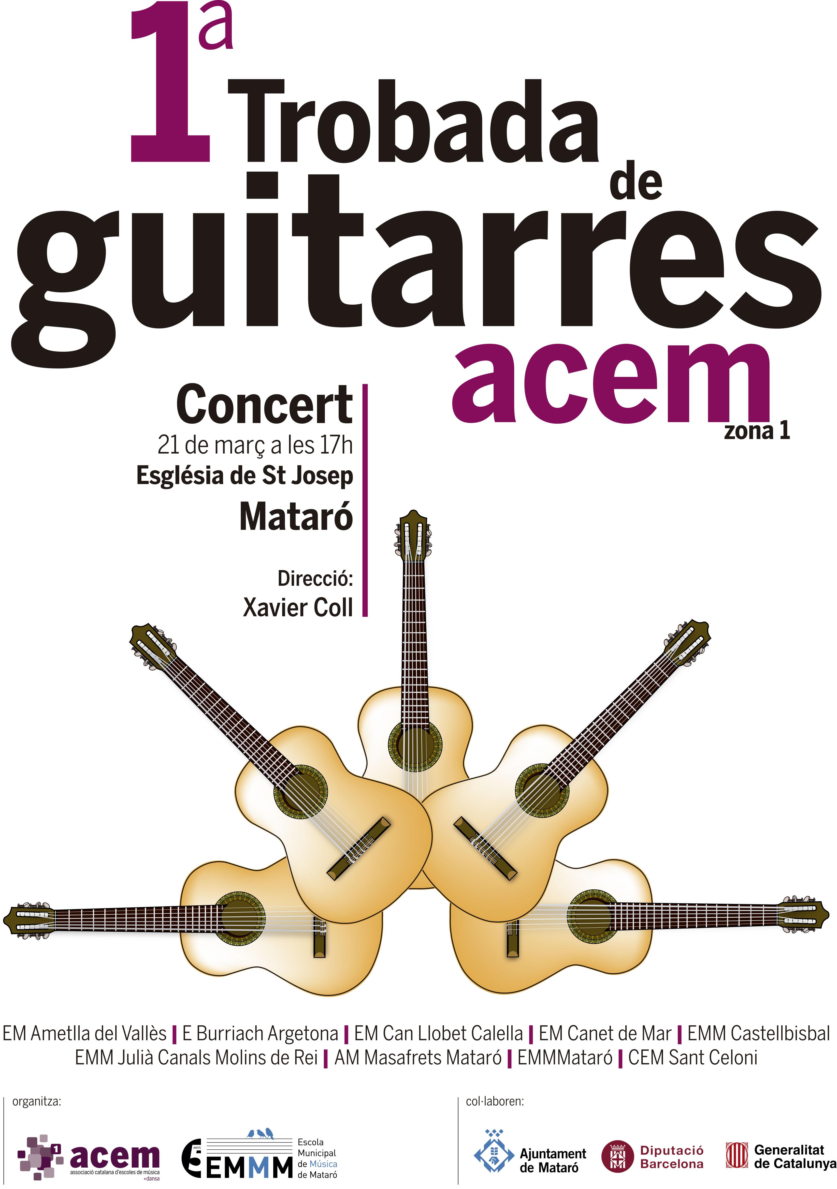 Primera Trobada de guitarres de la zona 1 a Mataró