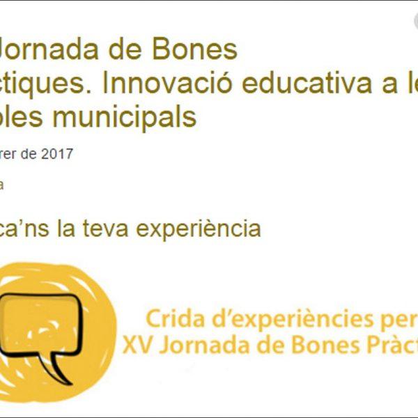 La Diputació de Barcelona organitza la XV Jornada de Bones Pràctiques: Innovació educativa a les escoles municipals