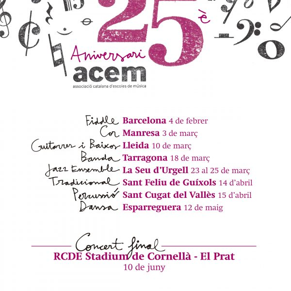 S'acosta el concert final #25ACEM
