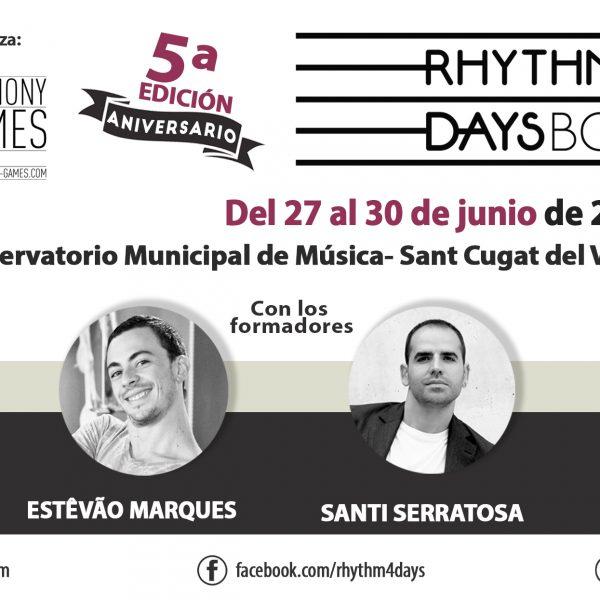 Curs de formació Rhythm4Days del 27 al 30 de juny de 2018 a Sant Cugat del Vallès a càrrec de Keith Terry, Estêvão Marques, Santi Serratosa i Oriol Ferré