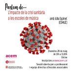PARLEM DE…l'impacte de la crisi sanitària a les escoles de música