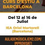 Curs d'estiu d'Improvisació Musical a l'Oriol Martorell – Metodologia IEM amb descompte per socis ACEM