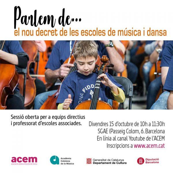 Parlem de…el nou decret de les escoles de música i dansa