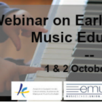"""Inscripcions obertes al seminari web """"Early Childhood Music Education"""" – 1 i 2 d'octubre"""